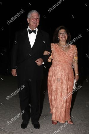Alexander Crown Prince of Yugoslavia and Katherine Crown Princess of Yugoslavia Arrive For a Private Dinner Organized by Former King Constantine Ii of Greece and Former Queen Anne-marie to Celebrate Their Golden Wedding Anniversary at the Yacht Club of Greece in Piraeus Greece 18 September 2014 the Golden Wedding Anniversary Will Be Attended by Royals From All Over Europe Greece Piraeus