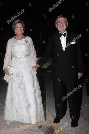 Former King Constantine Ii of Greece (l) and Former Queen Anne-marie of Greece Arrive For a Private Dinner Organized by Former King Constantine Ii of Greece and Former Queen Anne-marie to Celebrate Their Golden Wedding Anniversary at the Yacht Club of Greece in Piraeus Greece 18 September 2014 the Golden Wedding Anniversary Will Be Attended by Royals From All Over Europe Greece Piraeus