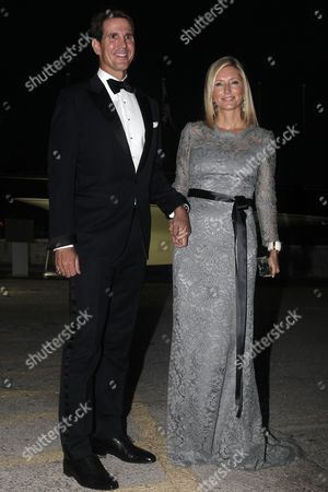 Crown Prince Pavlos of Greece with Crown Princess Marie-chantal (r) of Greece Arrive For a Private Dinner Organized by Former King Constantine Ii of Greece and Former Queen Anne-marie to Celebrate Their Golden Wedding Anniversary at the Yacht Club of Greece in Piraeus Greece 18 September 2014 the Golden Wedding Anniversary Will Be Attended by Royals From All Over Europe Greece Piraeus
