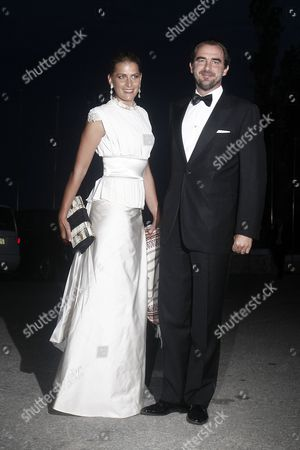 Prince Nikolaos of Greece and Denmark (r) and His Wife Princess Tatiana of Greece and Denmark Arrive For a Private Dinner Organized by Former King Constantine Ii of Greece and Former Queen Anne-marie to Celebrate Their Golden Wedding Anniversary at the Yacht Club of Greece in Piraeus Greece 18 September 2014 the Golden Wedding Anniversary Will Be Attended by Royals From All Over Europe Greece Piraeus