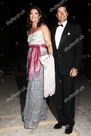 Princess Alexia of Greece and Denmark and Her Husband Carlos Morales Quintana (r) Arrive For a Private Dinner Organized by Former King Constantine Ii of Greece and Former Queen Anne-marie to Celebrate Their Golden Wedding Anniversary at the Yacht Club of Greece in Piraeus Greece 18 September 2014 the Golden Wedding Anniversary Will Be Attended by Royals From All Over Europe Greece Piraeus