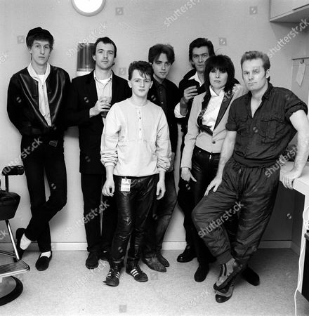 Stock Photo of 'The Tube' - The Icicle Works and the Pretenders - Chris Sharrock, Robbie McIntosh, Chris Layhe, Ian McNabb, Malcolm Foster, Chrissie Hynde and Martin Chambers