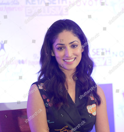 Bollywood actress Yami Gautam speaks to media as she attend a promotion campaign about her new film Kaabil in Calcutta, eastern India 03 February 2017.  The film directed by Sanjay Gupta and co actor Hrithik Roshan.