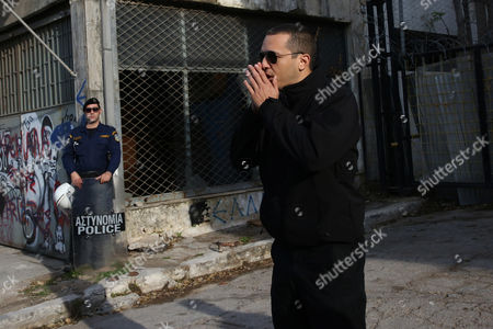 Ilias Kasidiaris Pm of the Ultra Right Wing Golden Dawn Party Walks Outside of the Construction Site of a Mosque in Athens Greece 04 November 2016 the Site was Occupied by Members of Ultra Right Groups But a Police Operation Launched Early on 04 November Evacuated the Area Greece Athens