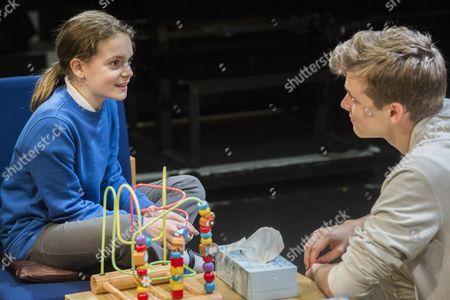 Vida King (Michaela, pupil) and Oliver Dench (Tom, private tutor)