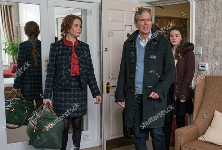 The big day has arrived and Laurel Thomas, as played by Charlotte Bellamy, Sandy Thomas, as played by Freddie Jones, and Gabby Thomas, as played by Rosie Bentham, watch on with sadness as Ashley Thomas, as played by John Middleton, leaves home and heads into residential care. It quickly becomes apparent he's settling in too easily while Laurel struggles to come to terms with being at home without her other half. (Ep 7746 - Fri 10 Feb 2017)