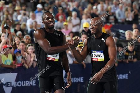 Usain Bolt and Asafa Powell