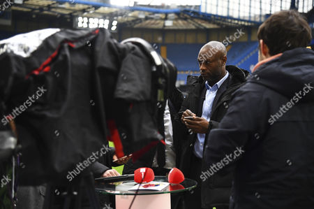Ex Chelsea and Arsenal player William Gallas working for French broadcaster SFR during the Premier League match between Chelsea and Arsenal played at Stamford Bridge, London on 4th February 2017