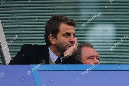 Stock Photo of Ex Tottenham Manager, Tim Sherwood, watches from the Stand during Chelsea vs Arsenal, Premier League Football at Stamford Bridge on 4th February 2017