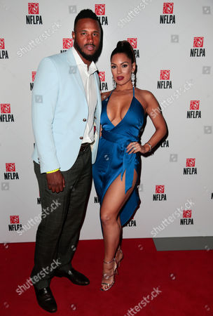 James Anderson, Carissa Rosario NFL player James Anderson and wife Carissa Rosario arrive for the NFLPA President's Party at The Revention Center, in Houston