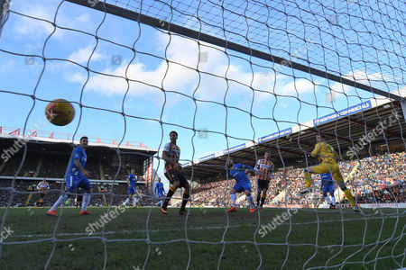 Bradford City striker Charlie Wyke (9)  scores goal to go  1 all during the EFL Sky Bet League 1 match between Bradford City and Gillingham at the Coral Windows Stadium, Bradford