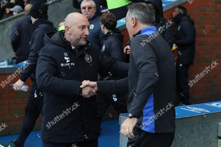 QPR Manager Ian Holloway and Blackburn Rovers manager Owen Coyle during the Sky Bet Championship between Blackburn Rovers and QPR played at the Ewood Park, Blackburn on 3rd February 2017