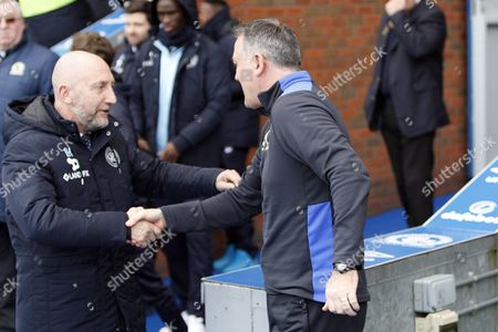 Queens Park Rangers Manager Ian Holloway and Blackburn Rovers Manager Owen Coyle shake hands during the EFL Sky Bet Championship match between Blackburn Rovers and Queens Park Rangers at Ewood Park, Blackburn