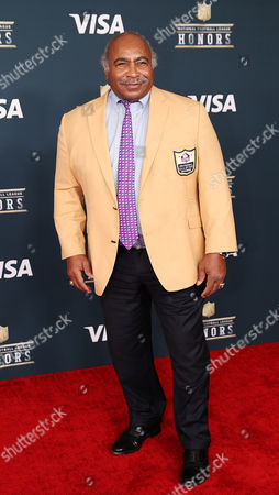 NFL Hall of Famer Willie Lanier on the Red Carpet prior to the start of the NFL Honors at the Wortham Theater Center in Houston, TX