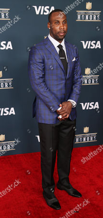 Detroit Lions wide receiver Anquan Boldin on the Red Carpet prior to the start of the NFL Honors at the Wortham Theater Center in Houston, TX