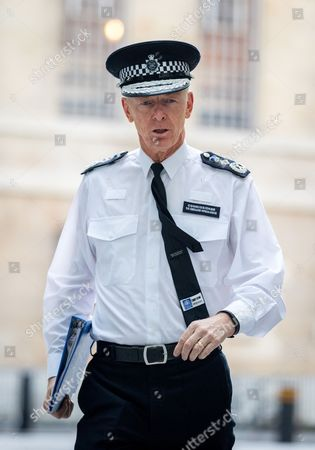 Metropolitan Police Commissioner Sir Bernard Hogan-Howe arriving