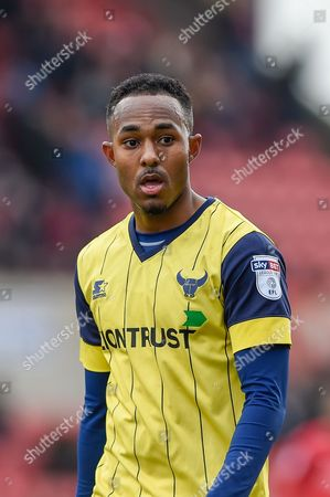 Oxford United Forward, Robert Hall (19) during the EFL Sky Bet League 1 match between Swindon Town and Oxford United at the County Ground, Swindon