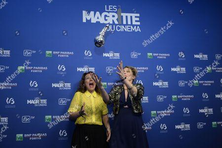 Stock Image of Eve Duchemin, Annabella Nezri win best documentary