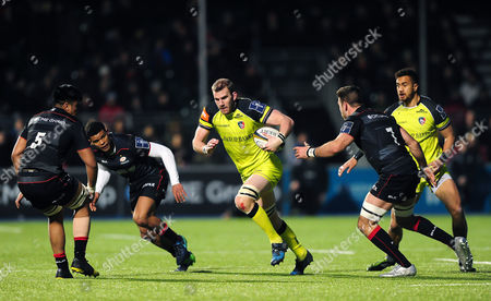 Stock Image of Tom Croft of Leicester Tigers in possession