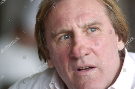 Stock Picture of French Actor Gerard Depardieu Talks to the Press During the Presentation of His Wine Produced Along with His Partner Bernard Magrez at the K-nal Restaurant in Brussels Thursday 20 April 2006 Belgium Brussels
