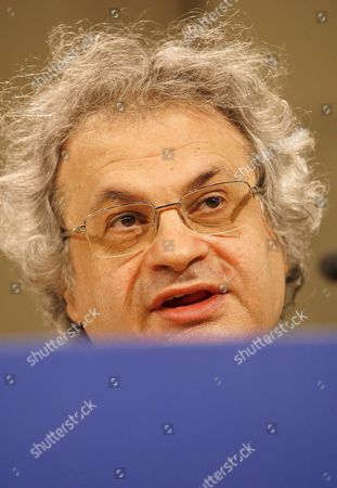 Lebanese Writer Amin Maalouf Holds a Joint Press Conference with Romanian Leonard Orban (not Pictured) European Commissioner For Multilinguism at the Eu Commission's Headquarters in Brussels Belgium 29 June 2007 Belgium Brussels