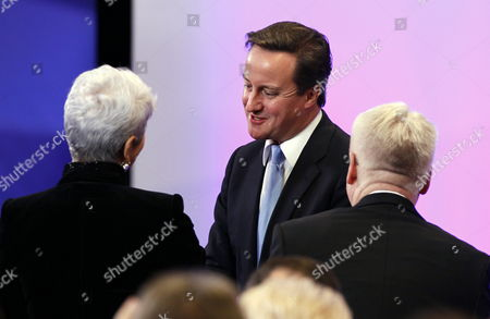 Stock Photo of Croatia's Prime Minister Jadranka Kosor (l) British Prime Minister David Cameron (c) and Coratia's President Ivo Josipovic (r) Pictured During a Meeting to Sign the Accession Treaty For Croatia to Join the European Union at the Eu Headquarters in Brussels Belgium 09 December 2011 Croatia and European Union Member States Signed the Treaty That Will Pave the Way For the Balkan Country to Become the Bloc's 28th Member on 01 July 2013 Belgium Brussels