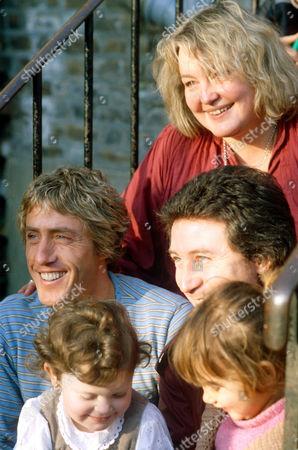Roger Daltrey, Erin Pizzey and Kenney Jones