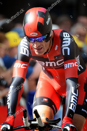 Us Rider George Hincapie of the Bmc Racing Team Crosses the Finish Line During the Prologue Stage an Individual Time Trial of 6 4 Km at the 99th Edition of the Tour De France Cycling Race in Liege Belgium 30 June 2012 Belgium Liege