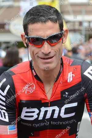 Us George Hincapie of Bmc Racing Team Pictured at the Start of the Second Stage of the 99th Edition of the Tour De France Cycling Race 207km From Vise to Tournai Belgium 02 July 2012 Belgium Liege