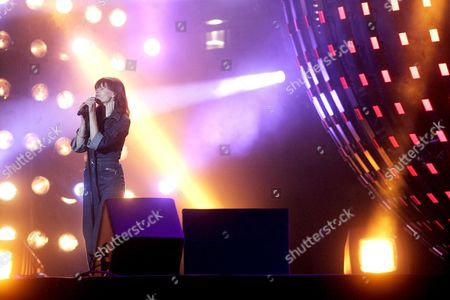 Axelle Red Performs on Stage During the Stars of Europe Concert at the Brussels Heysel-heizel Late 24 March 2007 During Celebrations to Mark the 50th Anniversary of the European Union Which was Founded by the 1957 Treaty of Rome Belgium Brussels