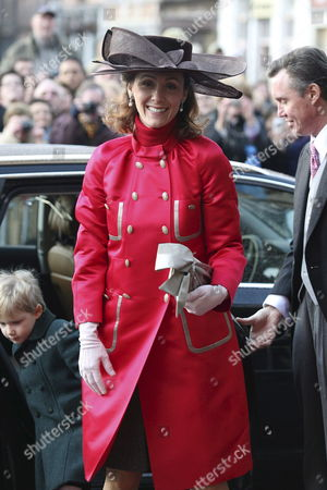 Princess Sibilla of Luxembourg Arrives at the Mechelen City Hall For the Wedding of Archduchess Maria Christina of Austria and Count Rodolphe of Limburg Stirum in Mechelen Belgium 06 December 2008 Belgium Mechelen
