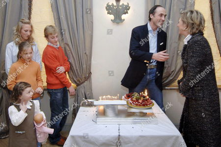 Belgian Prince Lorenz (c) Celebrates His 50 Birthday Sunday 18 December 2005 in the Family Home at Stuyvenberg in Laeken - Laken (l-r) Princess Laeticia-maria Princess Louisa-maria Princess Maria-laura Prince Joachim Prince Lorenz and Princess Astrid the Older Child Prince Amedeo is Missing From the Family Group As He His Currently Studying in England Princess Astrid is the Second Child of King Albert Ii of Belgium and Queen Paola After Crown Prince Philippe Belgium Laeken/laken