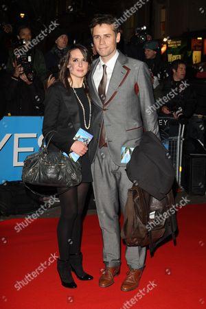 Stock Photo of Richard Bacon and Rebecca Mcfarlane