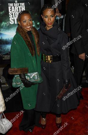 Adrienne Banfield-Jones and Jada Pinkett Smith