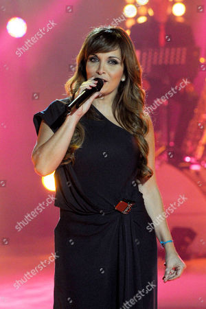 French Singer Helene Segara Performs During the Closing Ceremony of the Televie Charity Event of Rtl-tvi Television in Vilvoorde Belgium 07 May 2011 Belgium Vilvoorde