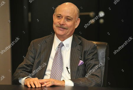 Us Jeremy Rifkin President and Founder of the Foundation on Economic Trends and Author of Best-selling Books on the Impact of Scientific and Technological Changes on the Economy the Workforce Society and the Environment at the Start of a Meeting with Flemish Minister President Kris Peeters not Pictured) in Brussels Belgium on 10 May 2010 Belgium Brussels