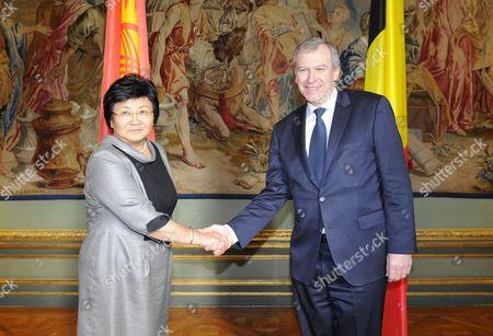 Editorial image of Belgium Kyrgyzstan Otunbayeva Visit - Mar 2011
