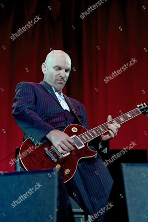 Guitarist Roddy Bottum of Faith No More Performs on the First Day of the 22nd Edition of the European Alternative Music Festival Dour at the Walloon Municipality Dour in Hainaut Belgium 15 July 2010 the Festival Takes Place From the 15 Until the 18 of July Belgium Brussels