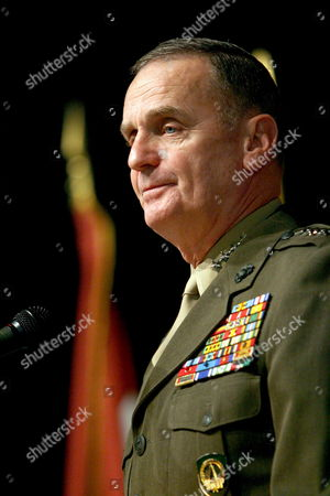 Outgoing Supreme Allied Commander Europe (saceur) Us Marine General James L Jones Delivers a Speech During the Change of Command Ceremony at the Shape (supreme Headquarters of the Allied Powers in Europe) in Casteau Belgium Thursday 07 December 2006 Jones is Being Replaced by Us Army General John Craddock Belgium Casteau