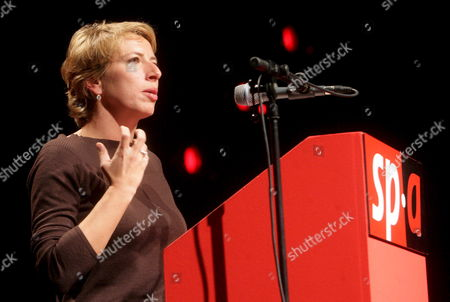 Caroline Gennez Speaks After Being Elected As New Chairman of Flemish Socialist Party Sp a in Antwerp Belgium 21 October 2007 Gennez Succeeds Johan Vande Lanotte who Resigned After the Poor Sp a Results For the Federal Elections of June 2007 Belgium Antwerp