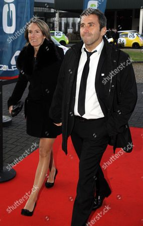 Former Belgian Tennis Player Justine Henin (l) and Her Partner Gregory Philippin (r) Arrive at the Sports Man and Woman of the Year 2011 Gala in Lint Belgium 18 December 2011 Belgium Lint