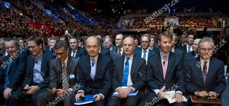 Nokia Executive Vice President Devices and Services Stephen Elop (l-r) Executive Vice President Here Michael Halbherr Ceo Nokia Solutions and Networks Rajeev Suri Nokia Board Members Jouko Karvinen Timo Ihamuotila Risto Siilasmaa and Henning Kagermann Attend Nokia's Extraordinary General Meeting in Helsinki Finland 19 November 2013 Shareholders of Finnish Mobile Phone Giant Nokia Approved a Deal Which Allows Microsoft to Buy Nokia's Devices and Services Unit Finland Helsinki