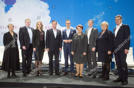(l-r) Minister of Strategic Development and Nordic Cooperation Kristina Persson of Sweden Prime Ministers Sigmundur Davio Gunnlaugsson of Iceland Helle Thorning-schmidt of Denmark David Cameron of Britain Aexander Stubb of Finland Laimdota Straujuma of Latvia Taavi Roivas of Estonia Erna Solberg of Norway and Algirdas Butkevicius of Lithuania Pose For Photos As They Attend the Northern Future Forum in Espoo Finland 07 November 2014 Finnish Prime Minister Alexander Stubb Has Invited the Prime Ministers of the Nordic Countries the Baltic States and the United Kingdom to Discuss Future Trends in Northern Europe Finland Espoo