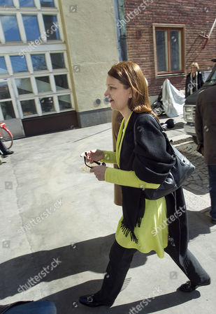 Leader of the Finnish Centre Party and Former Prime Minister Mari Kiviniemi Going to Her Party Office in Helsinki Finland on 18 April 2011 the Centre Party Suffered a Loss in the Parliamentary Elections of 16 Seats in the 200 Seat Parliament and Has Decided to Retreat to the Opposition Finland Helsinki