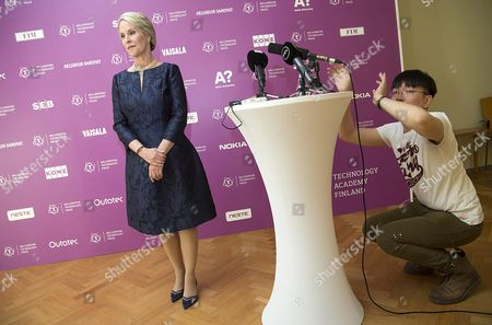 Biochemical Engineer Frances Arnold (l) of the Usa Prepares For a News Conference on the Occasion of Her Being Awarded the 2016 Millennium Technology Prize For 'Directed Evolution' by Finland's President Sauli Niinisto (unseen) in Helsinki Finland 24 May 2016 the Technology Academy Finland (taf) Declared the American Scientist Winner of the 2016 Millennium Technology Prize Which is Regarded a Prestigious Award For Technological Innovation That Enhance the Quality of Peoples Lives the Bi-annual Prize That was Awarded For the Seventh Time Since It First was Conferred in 2004 is Donated with One Million Euros Finland Helsinki