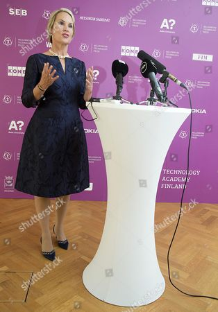 Biochemical Engineer Frances Arnold of the Usa Prepares For a News Conference on the Occasion of Her Being Awarded the 2016 Millennium Technology Prize For 'Directed Evolution' by Finland's President Sauli Niinisto (unseen) in Helsinki Finland 24 May 2016 the Technology Academy Finland (taf) Declared the American Scientist Winner of the 2016 Millennium Technology Prize Which is Regarded a Prestigious Award For Technological Innovation That Enhance the Quality of Peoples Lives the Bi-annual Prize That was Awarded For the Seventh Time Since It First was Conferred in 2004 is Donated with One Million Euros Finland Helsinki