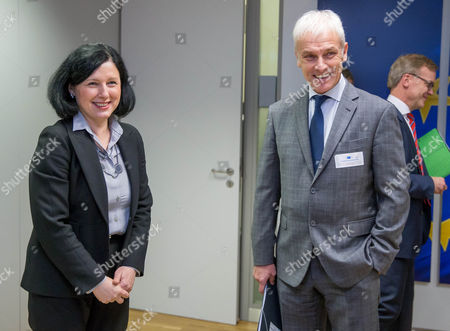 Matthias Muller and Vera Jourova