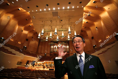 "Tetsuo Ichimoto, executive director of Suntory Hall, speaks during an interview at the concert hall in Tokyo. Behind the top names in concert halls around the world is Japanese engineer Yasuhisa Toyota who has made the science of sound so unobtrusive yet so distinguished what the listener gets is the music - in all its subtlety, texture and fullness. Ichimoto is proud the acoustics have won international praise. ""Mr. Toyota, now a reputed authority in this sector, did this hall 30 years ago before he had reached such status,"" he said. ""I am so glad we asked Mr. Toyota to do the job"