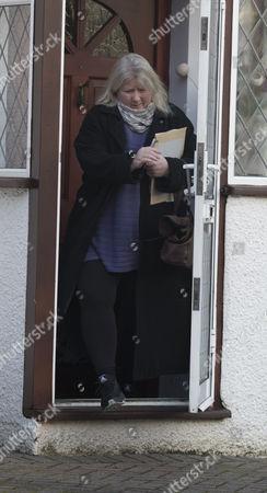 Kirsten Farage leaving her home in Biggin Hill