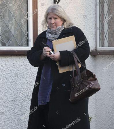 Stock Image of Kirsten Farage leaving her home in Biggin Hill